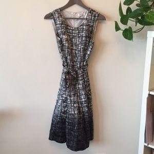Silk Calvin Klein Ombré Sleeveless Dress with Belt